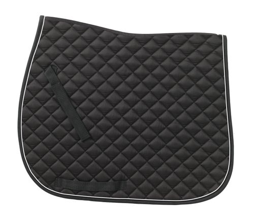 Ovation Coolmax Piped Dressage Pad - Black/White