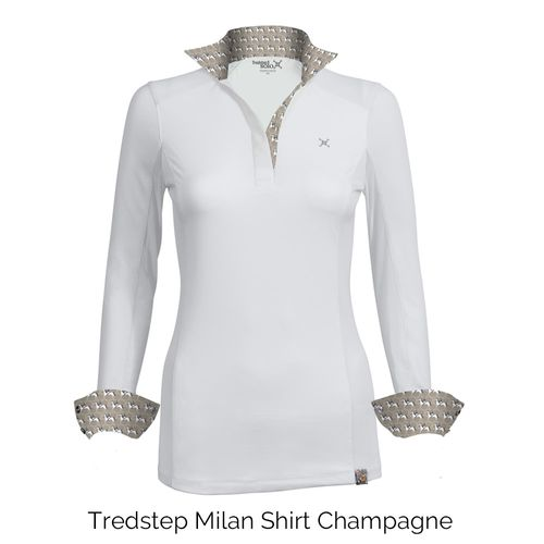 Tredstep Women's Solo Milan Long Sleeve Competition Shirt - Champagne