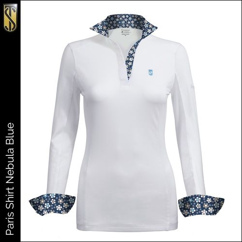 Tredstep Women's Symphony Paris Long Sleeve Competition Shirt - Nebula Blue