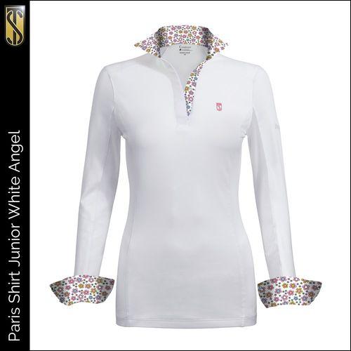 Tredstep Kids' Symphony Paris Long Sleeve Jr Competition Shirt - White Angel