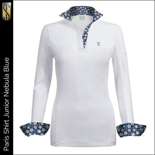 Tredstep Kids' Symphony Paris Long Sleeve Jr Competition Shirt - Nebula Blue
