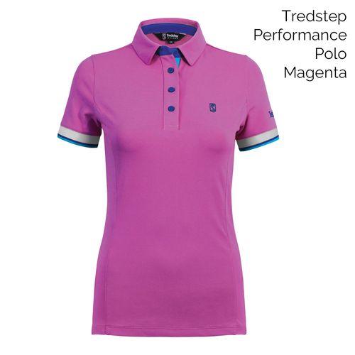 Tredstep Women's Performance Polo - Magenta