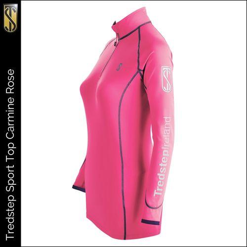 Tredstep Women's Futura Long Sleeve Sport Top - Carmine Rose