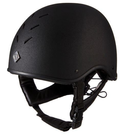 Charles Owen MS1 Pro Jockey Skull Helmet - Black