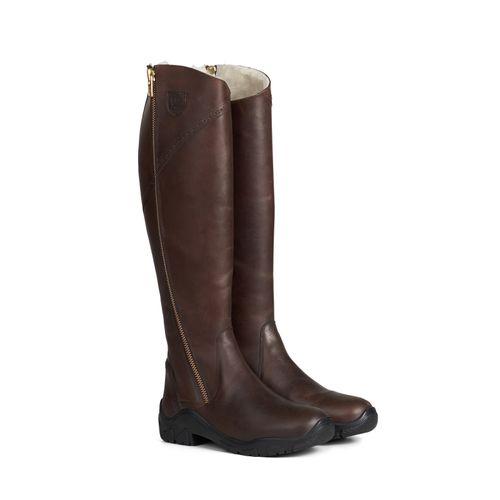 Horze Women's Aspen Winter Tall Boots - Dark Brown