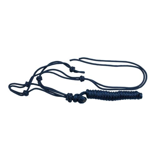 Horze Knotted Rope Halter w/Lead - Dark Blue