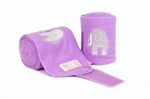 Lettia Embroidered Polo Wraps - Pink/Elephant