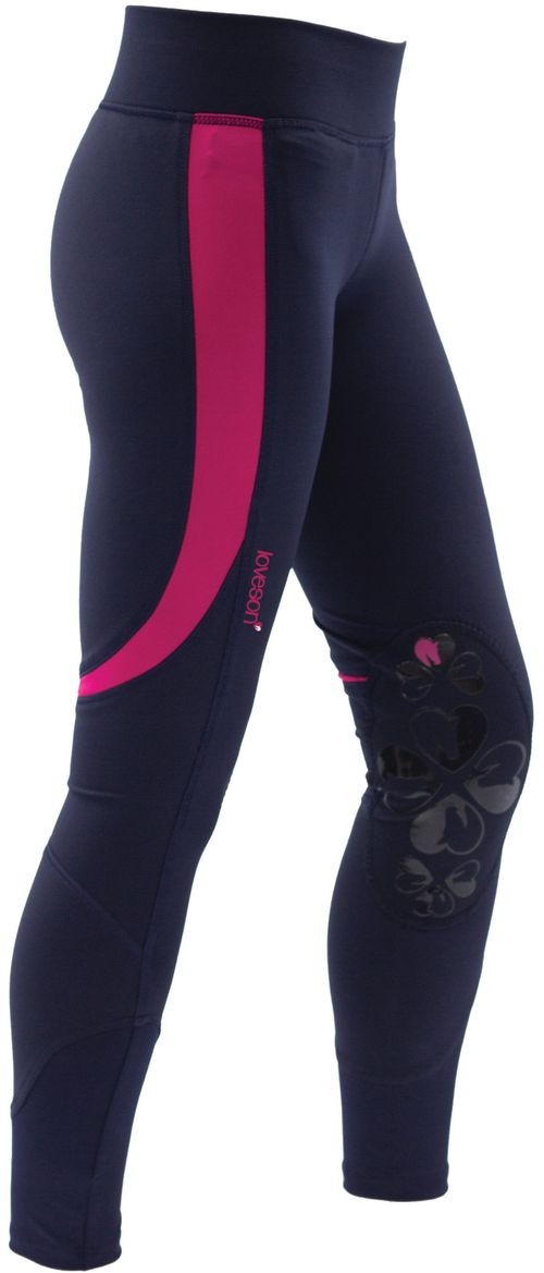 Loveson Women's Riding Tights - Navy/Pink