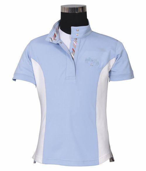 Equine Couture Kids' Cara Short Sleeve Show Shirt - KL Baby Blue