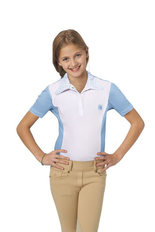 Romfh Kids' Signature Bit Short Sleeve Shirt - White/Cerulean