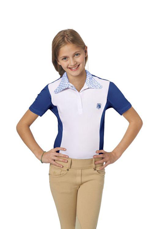 Romfh Kids' Signature Bit Short Sleeve Shirt - White/Aqua Marine