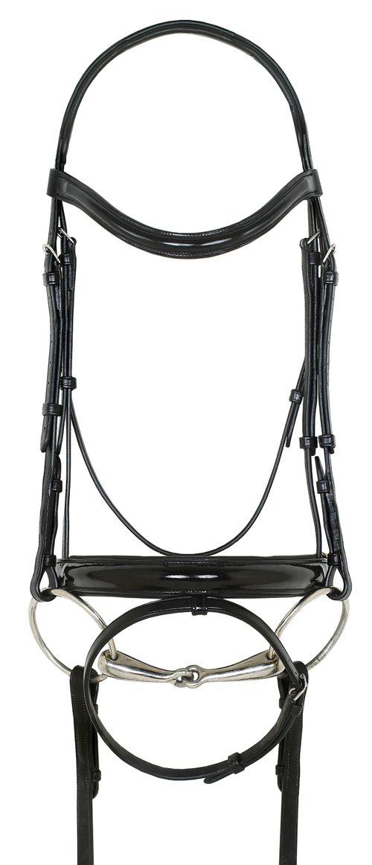 Ovation Natalia Crank Flash Dressage Bridle - Black