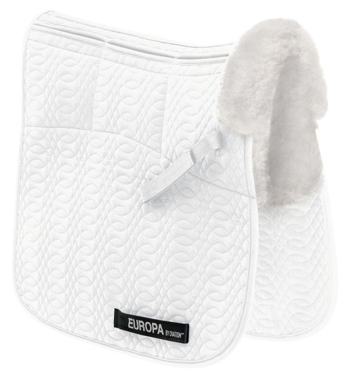 Ovation Europa Oversize Six Shim Dressage Pad - White/White