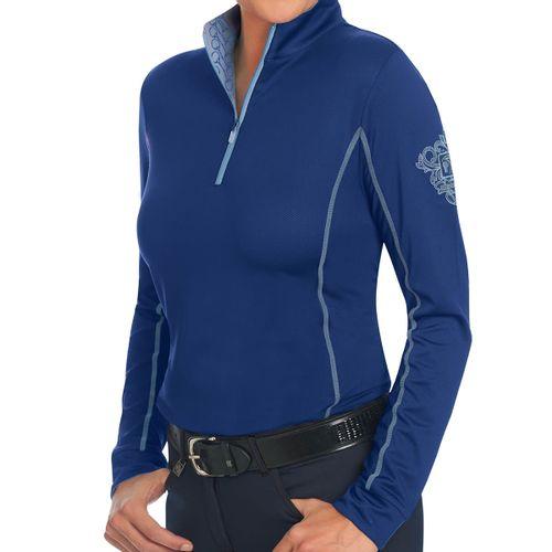 Romfh Women's Chill Factor Long Sleeve Sun Shirt - Aqua Marine/Cerulean