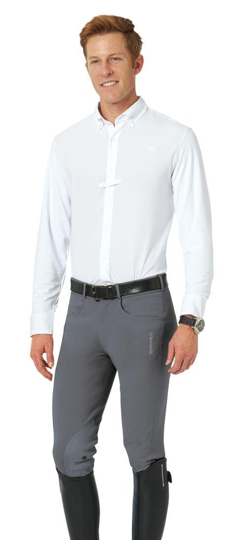 Romfh Men's Argento Knee Patch Euroseat - Steel Grey