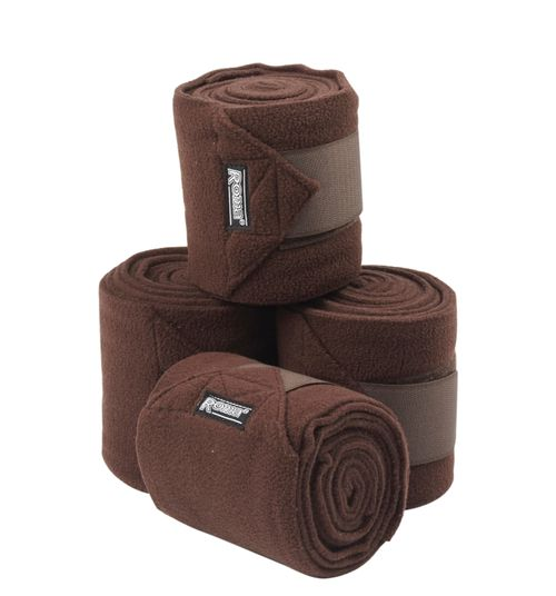 Roma Thick Polo Bandages 4 Pack - Coffee