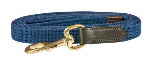 Kincade Leather Web Lead - Navy/Brown