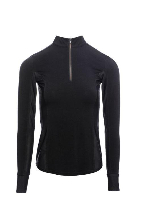 Alessandro Albanese Women's CleanCool Half Zip Long Sleeve Top - Black