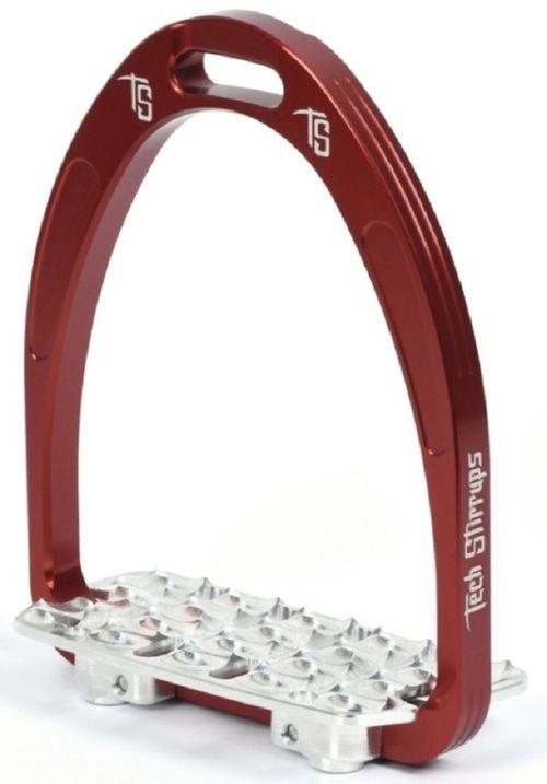 Tech Stirrups Brixia Light Endurance Irons - Red