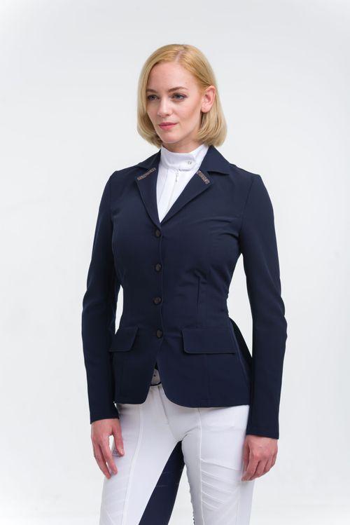 Cavalliera Women's Rose Gold Purity Show Jacket - Navy Blue