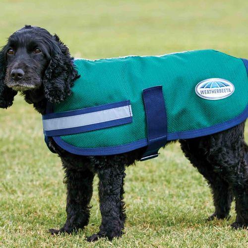 Weatherbeeta Comfitec Parka 1200D Dog Coat - Hunter/Navy