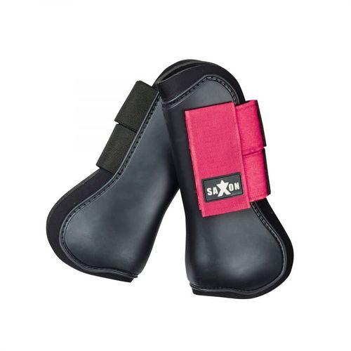 Saxon Open Front Boots - Black/Pink