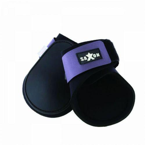 Saxon Contoured Fetlock Boots - Black/Purple