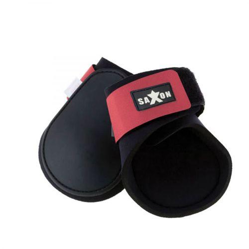 Saxon Contoured Fetlock Boots - Black/Pink