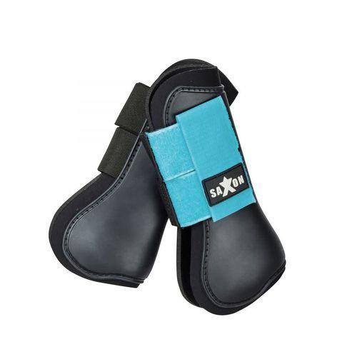 Saxon Open Front Boots - Black/Blue