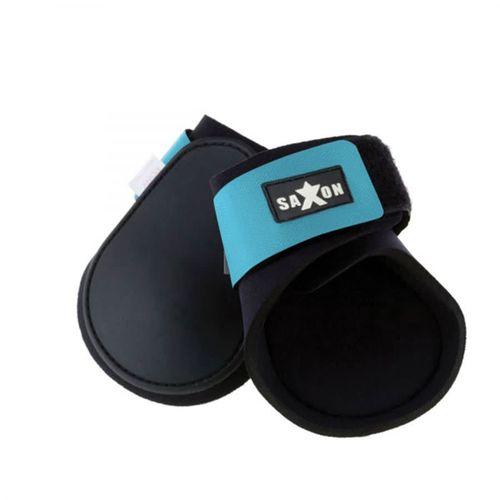 Saxon Contoured Fetlock Boots - Black/Blue
