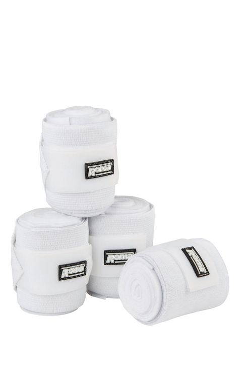 Roma Elastic Fleece Combi Bandage - White