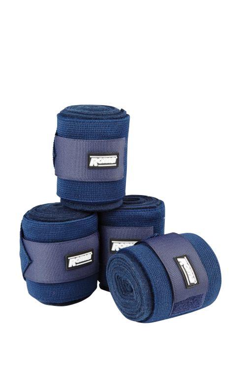 Roma Elastic Fleece Combi Bandage - Navy
