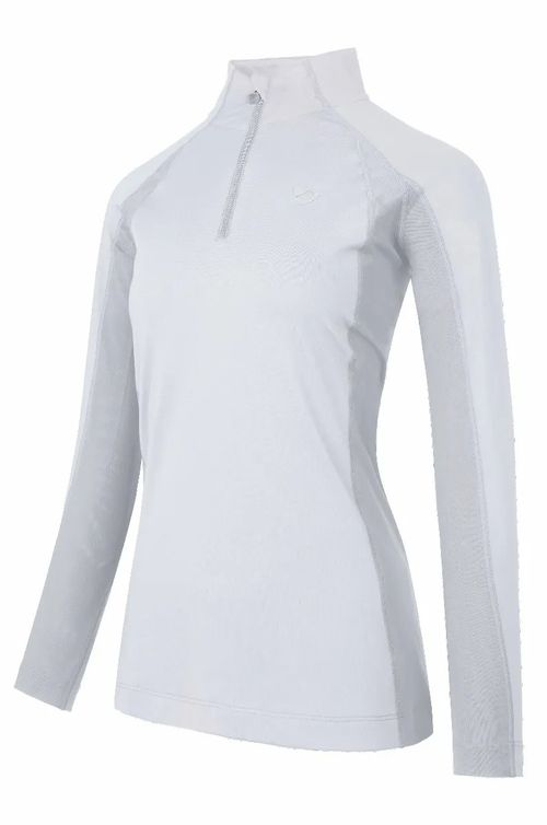 Aubrion Women's Newbury Long Sleeve Sun Shirt - White