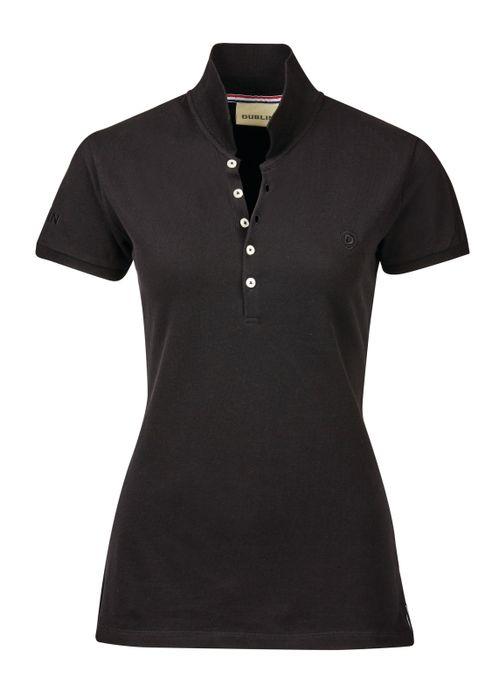 Dublin Women's Lily Cap Sleeve Polo Shirt - Black