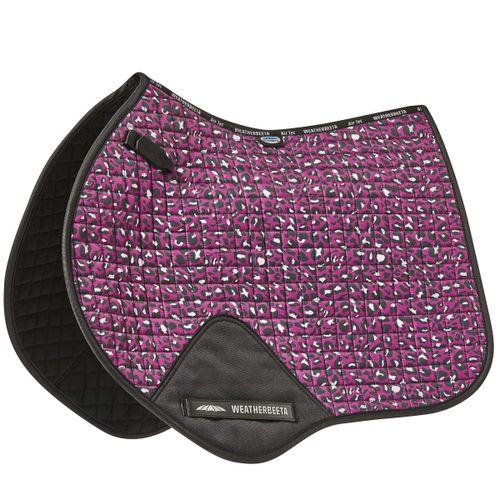 Weatherbeeta Prime Leopard Jump Shaped Saddle Pad - Pink Print