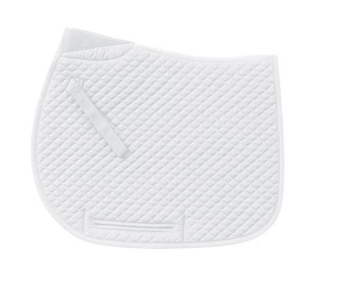 Centaur Mini Quilt Dressage Pad - White/White