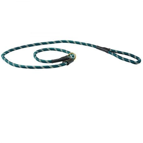 Weatherbeeta Rope Leather Slip Dog Lead - Hunter Green/Brown