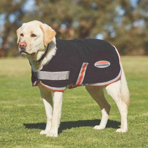 Weatherbeeta Comfitec Therapy-Tec Fleece Dog Coat - Black/Silver/Red