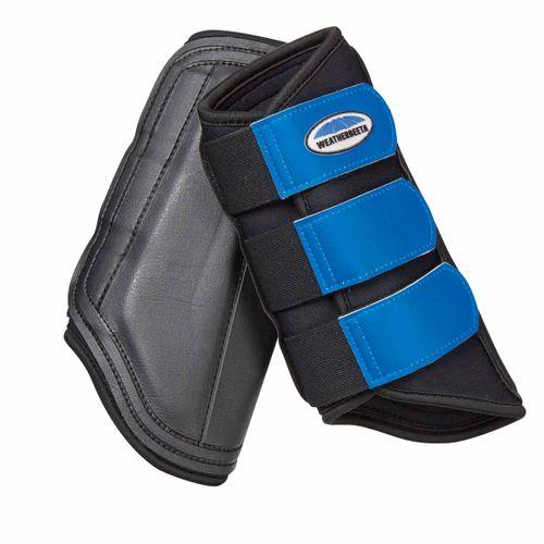 Weatherbeeta Single Lock Brushing Boots - Black/Royal Blue