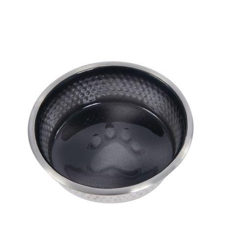 Weatherbeeta Non-Slip Stainless Steel Shade Dog Bowl - Black