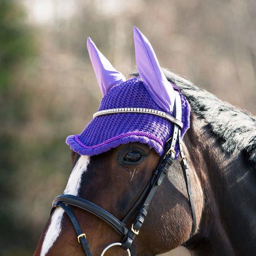 Horze River Ear Net - Purple/Purple