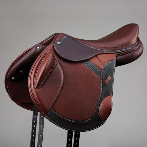 Crosby Monoflap Covered Leather Event Saddle - Oiled Cognac