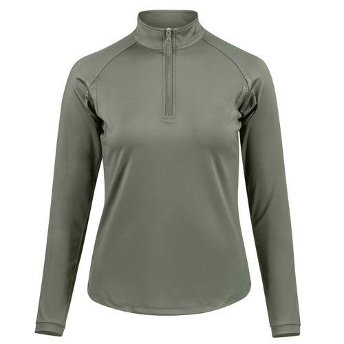 Horze Women's Carolina Training Shirt - Beetle Khaki Green