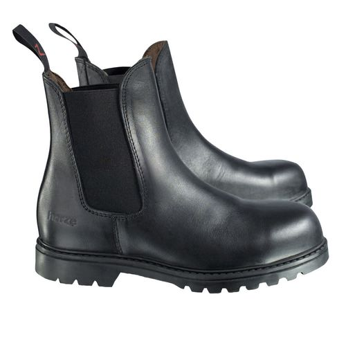 Horze Kids' Safety Work Paddock Boots - Black