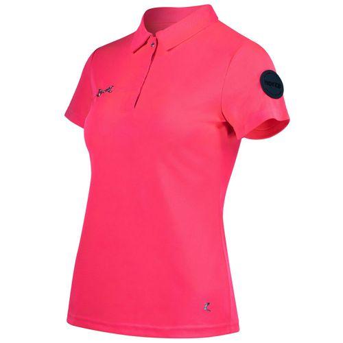 Horze Women's Denise Functional Polo Shirt - Pink