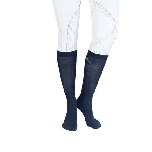 Horze Technical Bamboo Show Socks 2 Pack - Eclipse Dark Blue