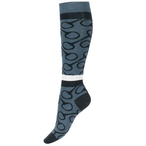 Horze Jacquard Knit Riding Socks - Orion Blue