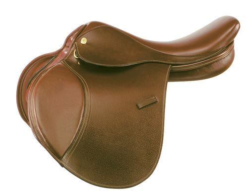 Kincade Childs Leather Close Contact Saddle - Brown