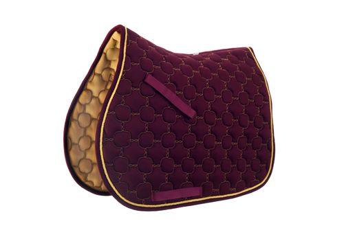 Roma Ecole Noble All Purpose Saddle Pad - Burgundy/Gold
