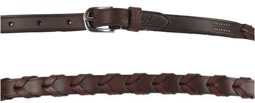 Harmohn Kraft Plain Laced Belt 1/2in - Brown